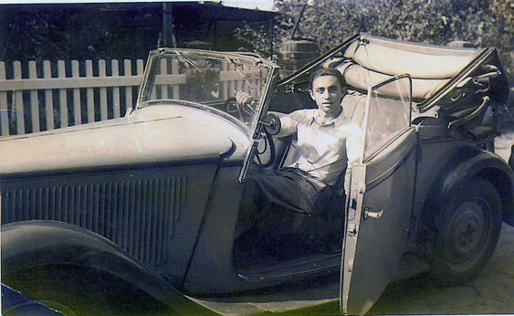 My father post war in his convertible Mercedes.
