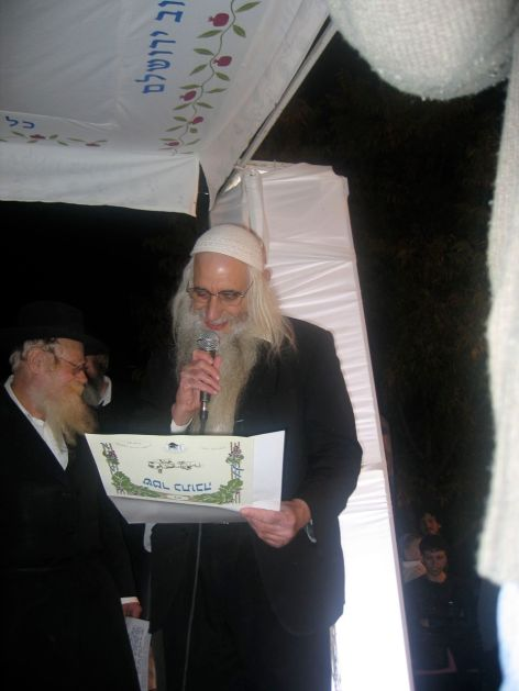 Rav Froman (on the right) and Rav Steinsaltz on the left.