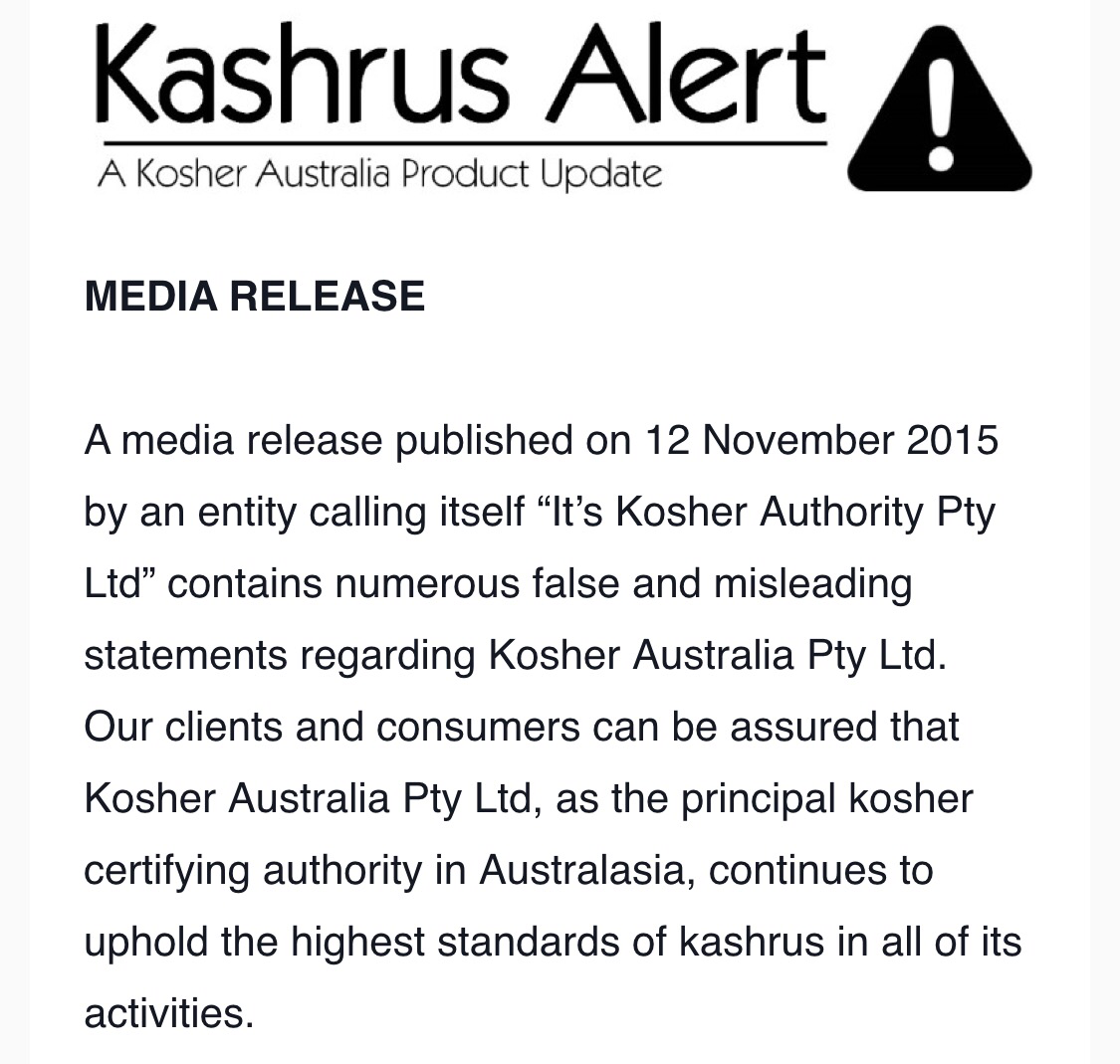 Kosher australia pitputim its triangle k in the states all over except ralbag is far more respected yet also not accepted by rov minyan and binyan of frum kosher consumers and biocorpaavc